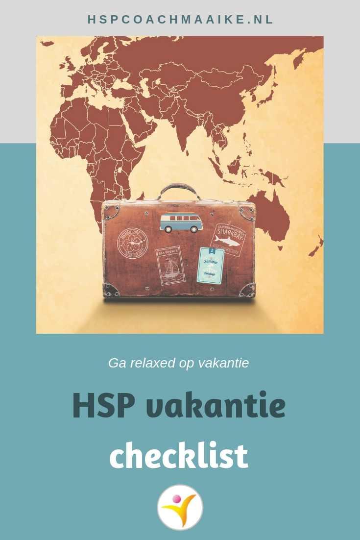 Vakantie checklist voor HSP