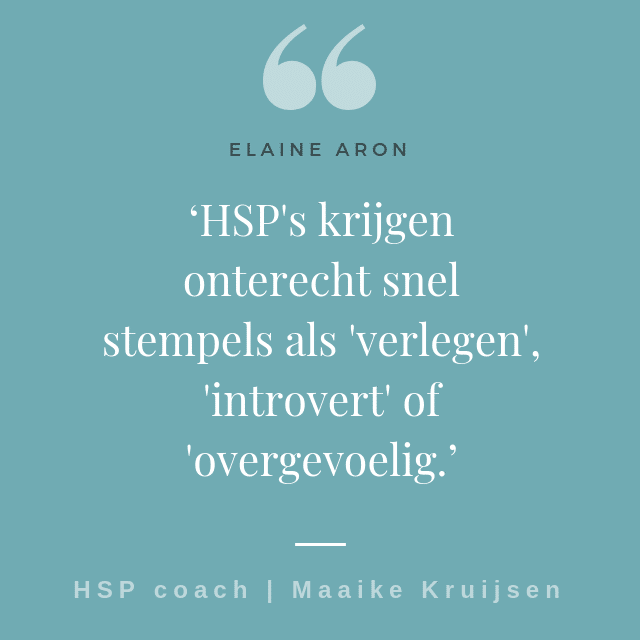 HSP coach Maaike - HSP quote