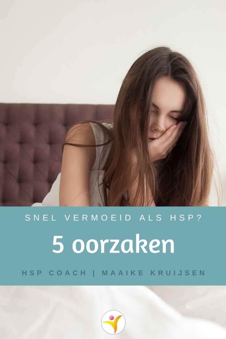 5 oorzaken van vermoeidheid bij HSP